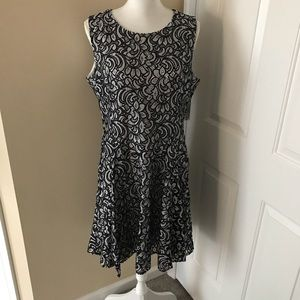 Tommy Hilfiger Fit And Flare Lace Dress Size 14